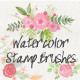 Floral Watercolor PS Stamp Brushes - GraphicRiver Item for Sale