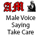 Male Voice Saying Take Care