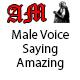 Male Voice Saying Amazing