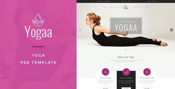 Yogaa – Wellness PSD Template