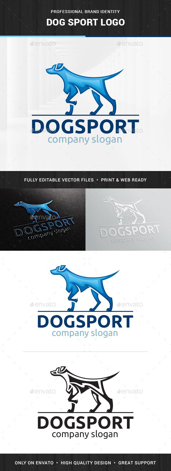 Dog Sport Logo Template