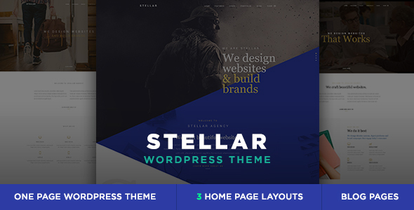 Stellar - One Page Multipurpose Responsive WP Theme