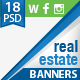 Real Estate Web + FB + Instagram Banners - GraphicRiver Item for Sale