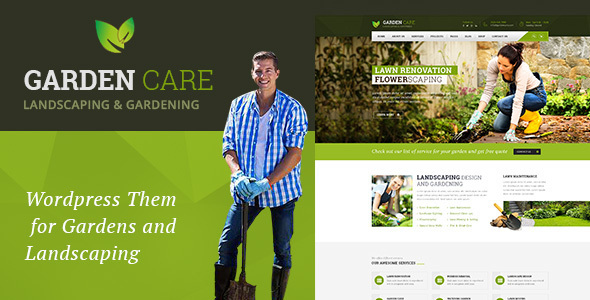 Garden Care - Gardening and Landscaping WordPress Theme