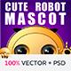 Cute Robot Mascot - GraphicRiver Item for Sale
