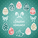 Easter Elements and Seamless Pattern - GraphicRiver Item for Sale