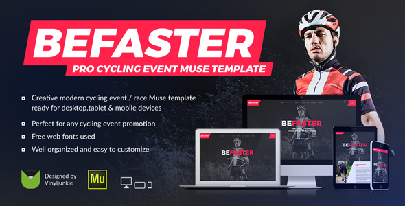 BeFaster - Pro Cycling Mountain Bike Event / Race / Competition Muse Template