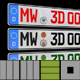 MW3D editable Car Euro Licenseplate for C4D  - 3DOcean Item for Sale