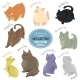 Cats and Kittens Depicting Different Fur - GraphicRiver Item for Sale