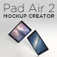 Pad Air 2 Mockup Creator - GraphicRiver Item for Sale