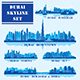 Set of Dubai Districts - GraphicRiver Item for Sale