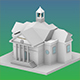 Low Poly City Hall - 3DOcean Item for Sale