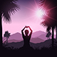 Female in Yoga Pose in Tropical Landscape - GraphicRiver Item for Sale