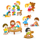 Kids Playing with Toys - GraphicRiver Item for Sale