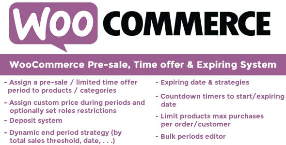 WooCommerce Pre-sale, Time offer & Expiring System, Gobase64