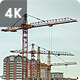 Working Construction Cranes - VideoHive Item for Sale
