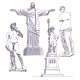 Famous Statues Drawings - GraphicRiver Item for Sale