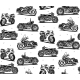 Retro Motorcycles Seamless Pattern - GraphicRiver Item for Sale