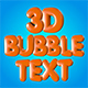 3D Animated Bubble Text - VideoHive Item for Sale