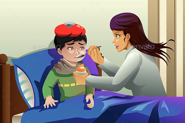 Kid Taking Medicine