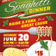 SPAGHETTI DINNER FUNDRAISER Event Poster, Flyer or Ad - GraphicRiver Item for Sale