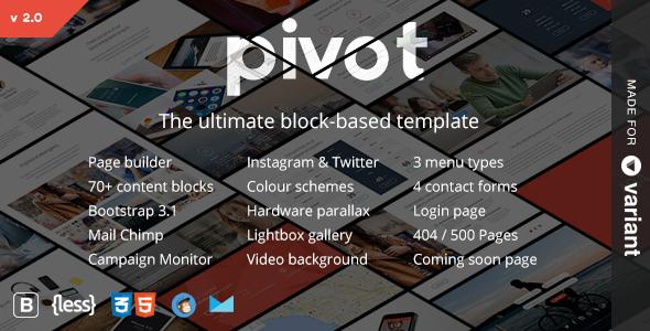 Pivot | Wielofunkcyjny HTML z programem budującym strony