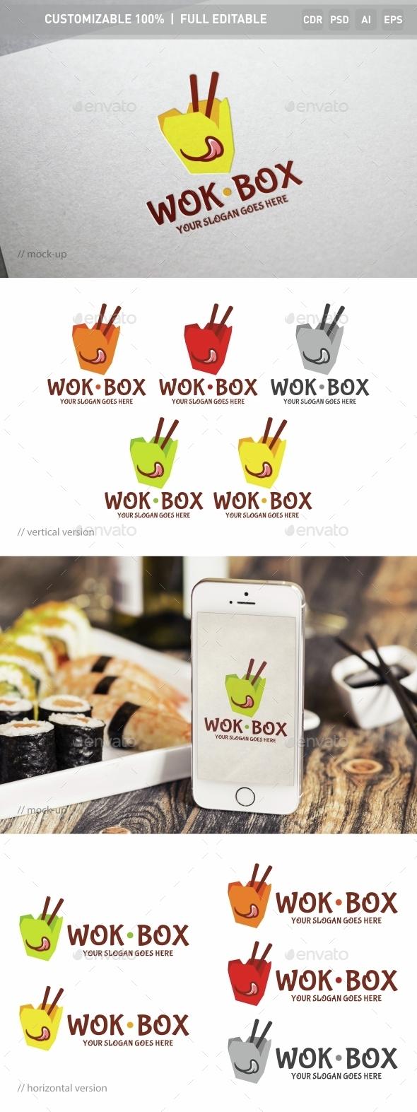 Wok Box Logo Template