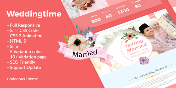 Wedding Time - Responsive Wedding Time Themes