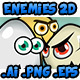 Enemies 2D - Game Character 1 - GraphicRiver Item for Sale
