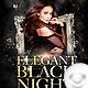 Flyer Elegant Black Night - Birthday - GraphicRiver Item for Sale