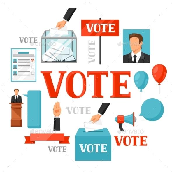 Vote Political Elections Concept