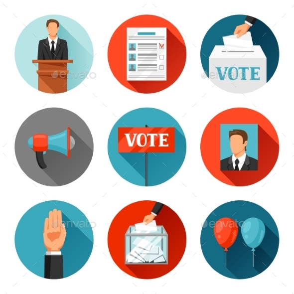 Vote Political Elections Icons