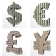 Dollar, Euro, Pound, Yena 3D Textured - GraphicRiver Item for Sale