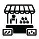 Farmers Market, Food Market with Fresh Local Produce Icons Set - GraphicRiver Item for Sale