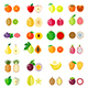 Set of Fruit Icons - GraphicRiver Item for Sale