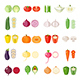 Set of Vegetables Icons - GraphicRiver Item for Sale