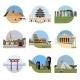 World Landmarks Flat Icon Set - GraphicRiver Item for Sale