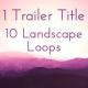 Trailer Titles Series 1 - Mystique Landscapes - VideoHive Item for Sale