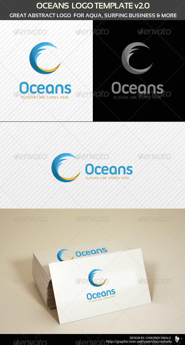 Oceans Logo Template