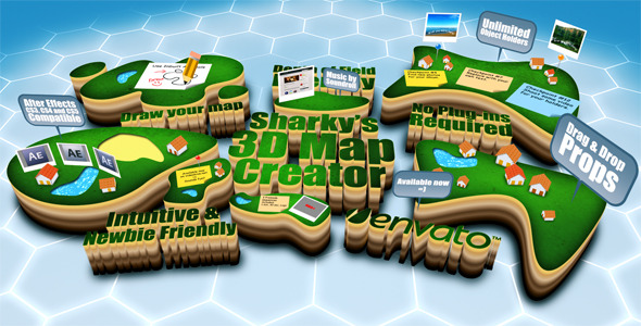 3D Map Generator Video Effects & Stock Videos from VideoHive