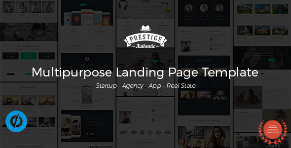 Prestige - Multipurpose Landing Pages Template