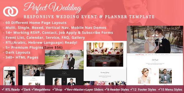PerfectWedd - Wedding Planner HTML