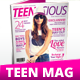 40 Pages A4 Teens Magazine - GraphicRiver Item for Sale