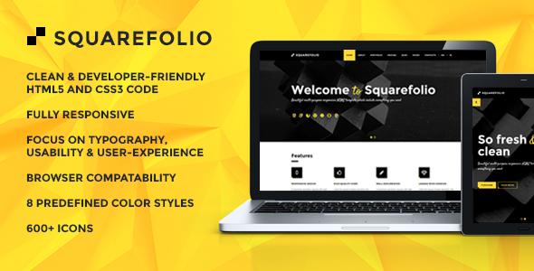 Squarefolio Multipurpose HTML Template