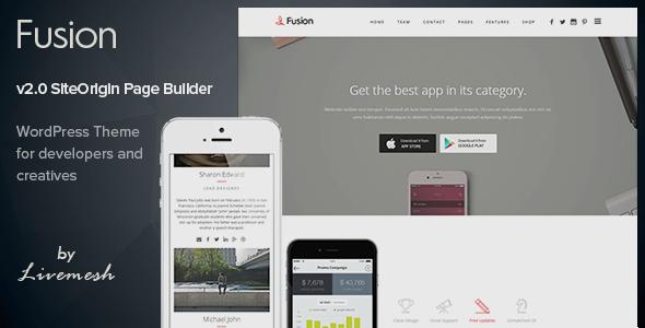 Fusion Mobile App Landing
