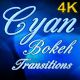 Cyan Bokeh Transitions - VideoHive Item for Sale
