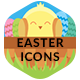 Easter Flat Icons - GraphicRiver Item for Sale