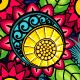 Blue Floral Striped Background - GraphicRiver Item for Sale