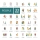 People Flat Icons Set - GraphicRiver Item for Sale