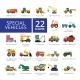 Special Vehicles Flat Icons Set - GraphicRiver Item for Sale